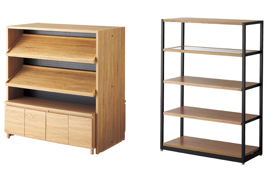 doubled sided cabinet with adjustable shelf and wooden display shelf lateral 4 etc