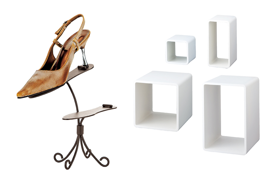 display cube and boutique shoe stand etc